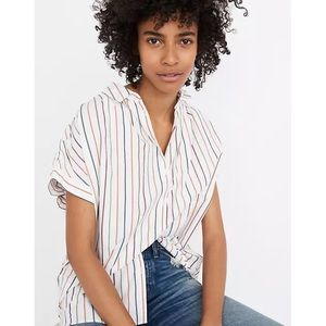 Madewell Central Shirt Button Sadie Stripe Size S